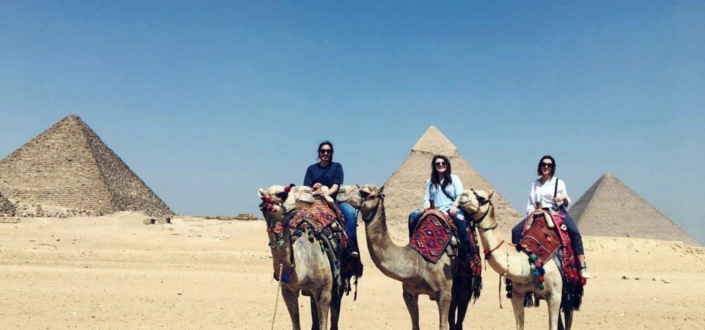 Cynthia Bauer and Lauren Burns in Giza
