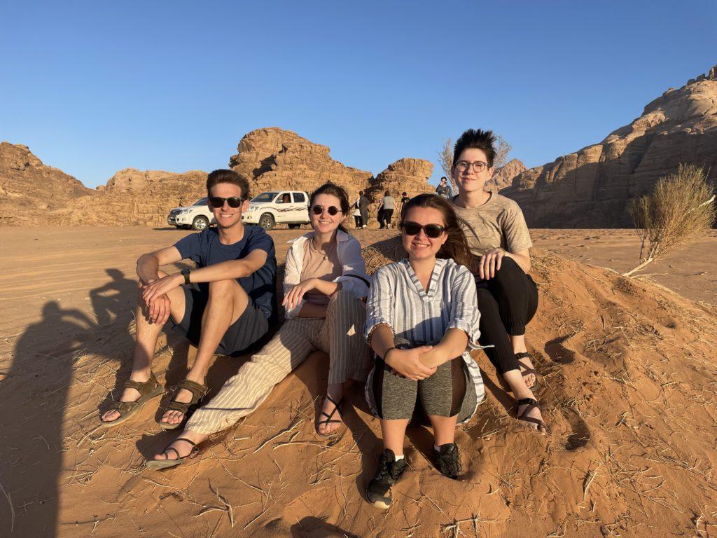 Students in the Wadi Rum desert of Southern Jordan